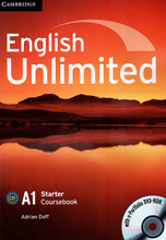 English Unlimited: Level A1: Starter Coursebook (+ DVD-ROM),
