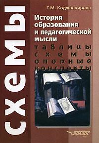 История образования и педагогической мысли. Таблицы, схемы, опорные конспекты, Г. М. Коджаспирова