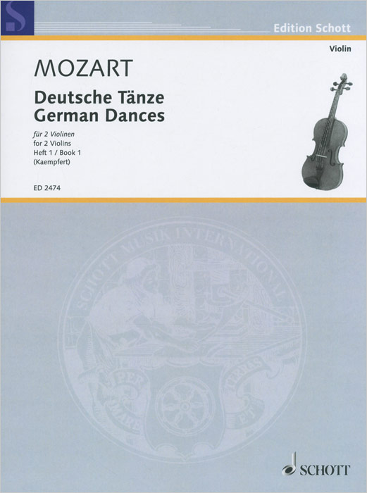Wolfgang Amadeus Mozart: German Dances for 2 Violins: Book 1, Wolfgang Amadeus Mozart