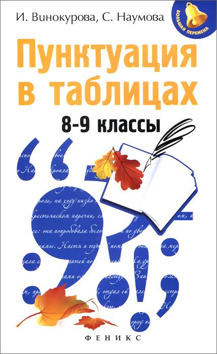 Пунктуация в таблицах. 8-9 классы, И. Винокурова, С. Наумова