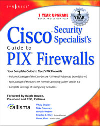 Cisco Security Specialists Guide to PIX Firewall,,