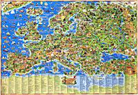 Детская карта Европы,