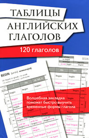 Таблицы английских глаголов. 120 глаголов,