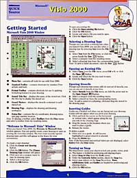 Microsoft Visio 2000 Quick Source Reference Guide,