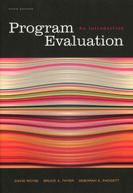 Program Evaluation: An Introduction,