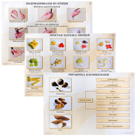 Кулинария. Механическая кулинарная обработка продуктов (комплект из 20 плакатов), В. П. Андросов