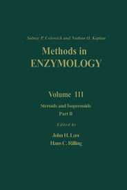 Methods in Enzymology: Volume 111: Steroids and Isoprenoids: Part B,
