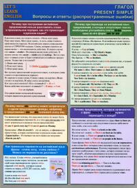 Let's Learn English / Глагол Present Simple. Вопросы и ответы. Растпространенные ошибки,