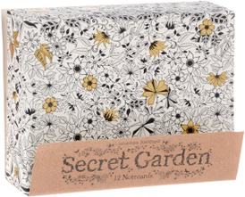 Secret Garden: 12 Notercard,