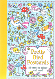 Pretty Bird Postcards: 25 Cards to Colour and Send,