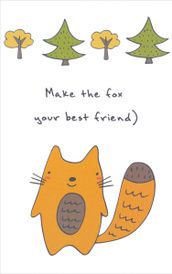 """Make the Fox Your Best Friend"" Блокнот для записей,"
