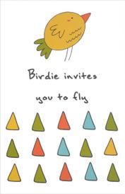 """Birdie Invites You to Fly"" Блокнот для записей,"