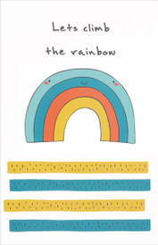 """Let's Climb the Rainbow"" Блокнот для записей,"