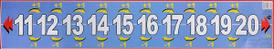 Числовой ряд от 11 до 20. Плакат,