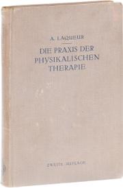 Die Praxis der physikalischen Therapie,