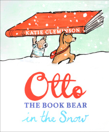 OTTO THE BOOK BEAR IN THE SNOW,