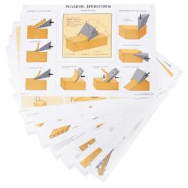 Столярно-плотничные, паркетные и стекольные работы (набор из 30 плакатов), Г. И. Клюев