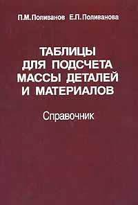 Таблицы для подсчета массы деталей и материалов. Справочник, П. М. Поливанов, Е. П. Поливанова