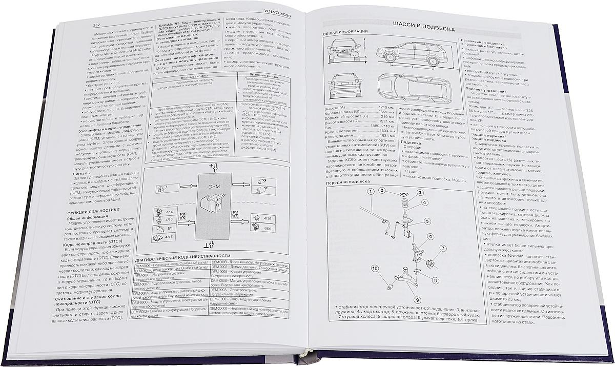 Volvo XC90. Устройство, техническое обслуживание, руководство по ремонту, М. П. Сизов, Д. И. Евсеев