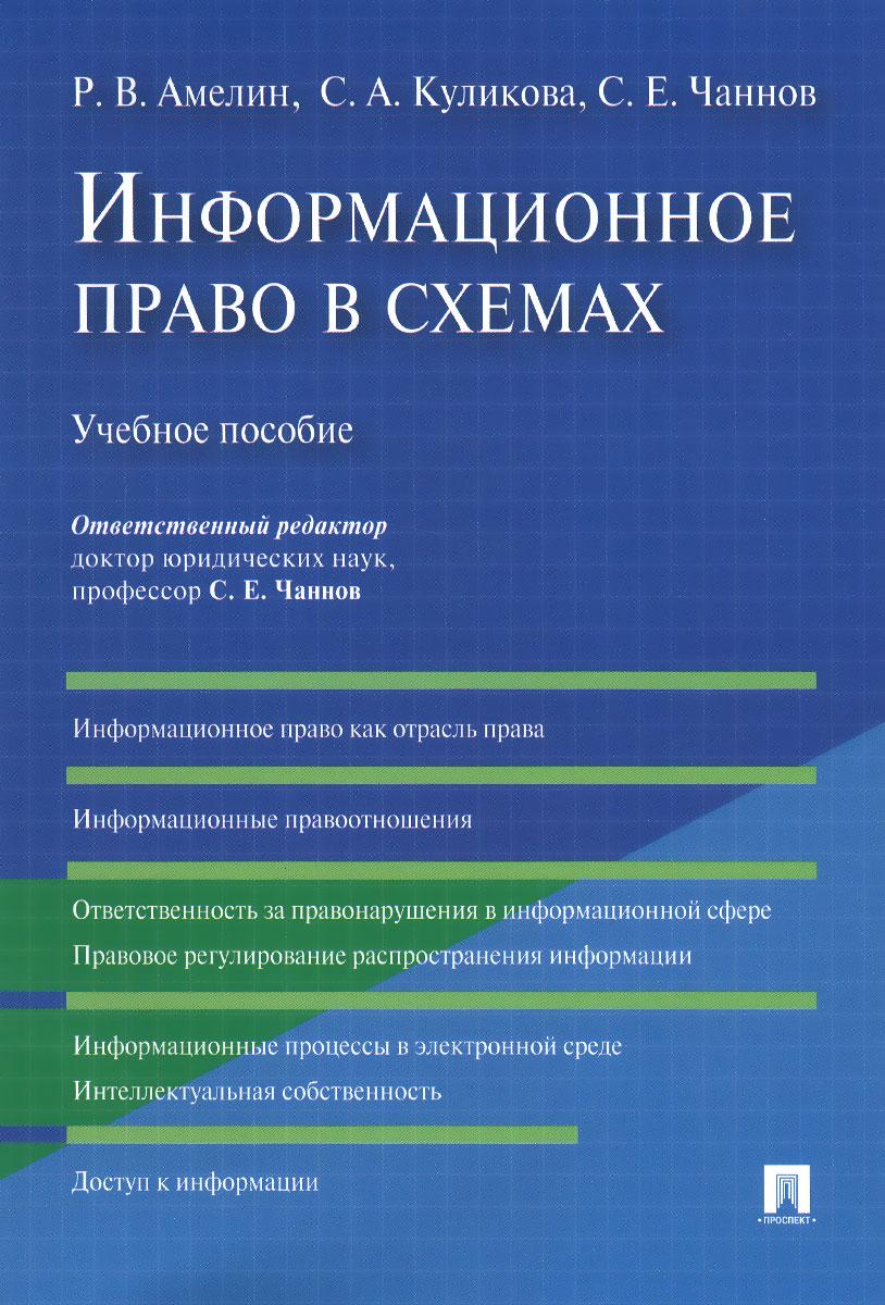 Информационное право в схемах. Учебное пособие, Р. В. Амелин, С. А. Куликова, С. Е. Чаннов