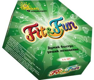 Настольная игра Fit and Fun. Обучающая игра от 4 до 6 лет