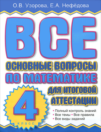 Все основные вопросы по математике для итоговой аттестации. 4 класс