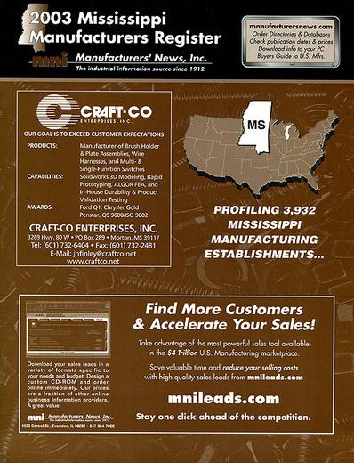 2003 Mississippi Manufacturers Register
