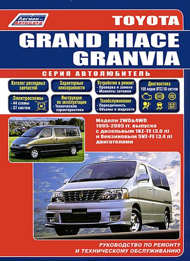 Toyota Grand Hiace / Granvia. Модели 1995-2005 гг. выпуска с дизельным и бензиновым  двигателями. Руководство по ремонту и техническому обслуживанию
