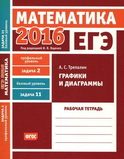 ЕГЭ 2016. Математика. Задача 2. Профильный уровень. Задача 11. Базовый уровень. Графики и диаграммы. Рабочая тетрадь