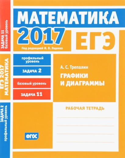 ЕГЭ 2017. Математика. Задача 2. Профильный уровень. Задача 11. Базовый уровень. Графики и диаграммы. Рабочая тетрадь