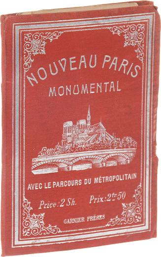 Nouveau Paris monumental (avec le parcours du metropolitain)
