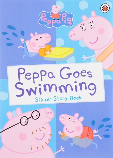 Peppa Goes Swimming: Sticker Story Book