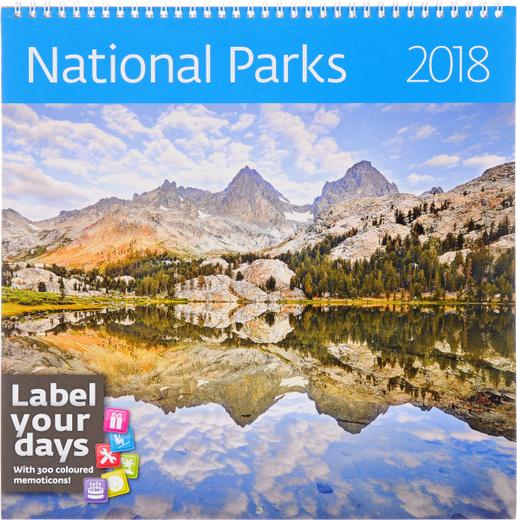 National Parks. Календарь (на спирали) на 2018 год (+ наклейки)