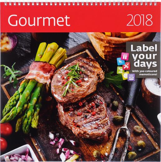 Gourment. Календарь (на спирали) на 2018 год (+ наклейки)