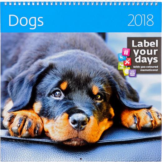 Dogs. Календарь (на спирали) на 2018 год (+ наклейки)