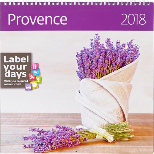 Provence. Календарь (на спирали) на 2018 год (+ наклейки)