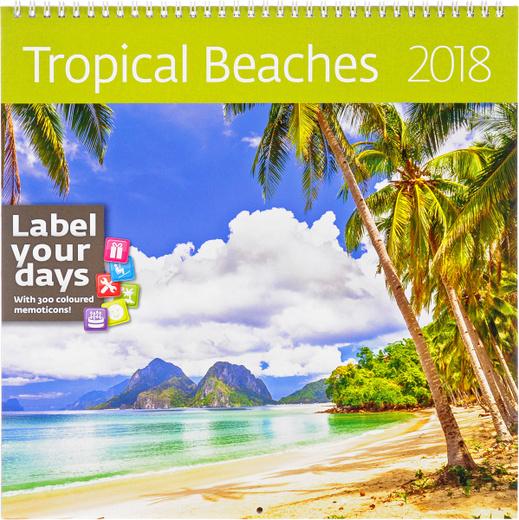 Beaches. Календарь (на спирали) на 2018 год (+ наклейки)