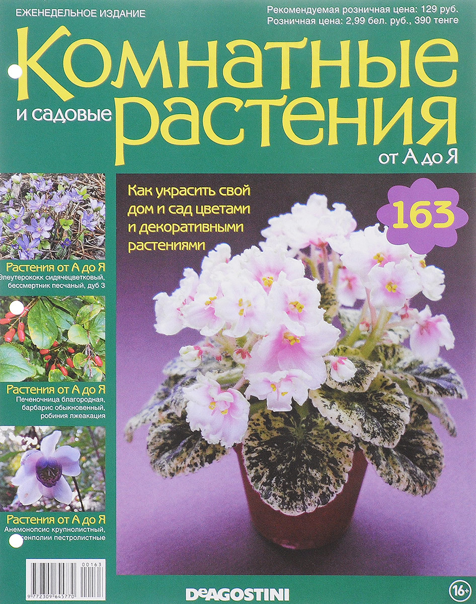 """Журнал """"Комнатные и садовые растения. От А до Я"""" №163"""