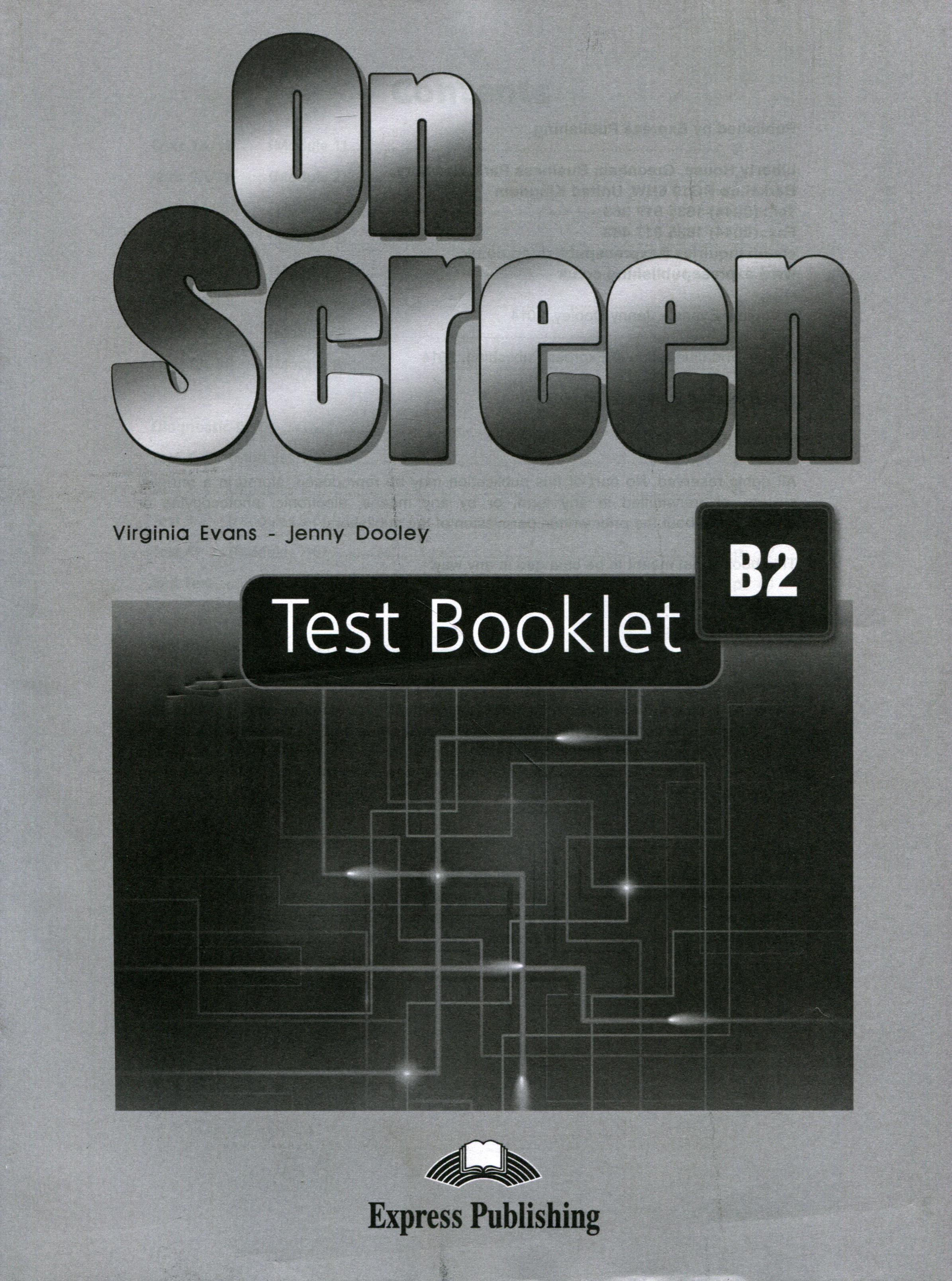 On Screen B2: Test Booklet