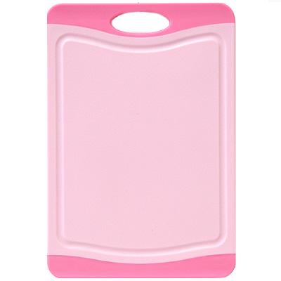 Доска разделочная Atlantis Microban 29х20см, цвет:  розовый F-S-P