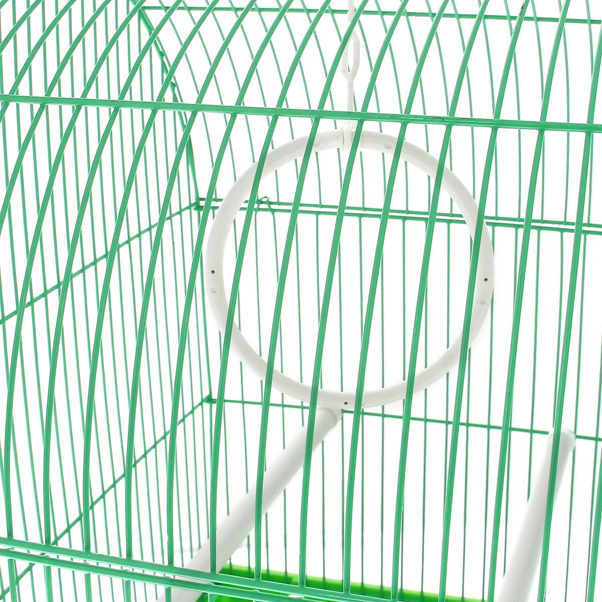 Клетка для птиц, цвет:  зеленый, 35 см х 28 см х 46 см Triol