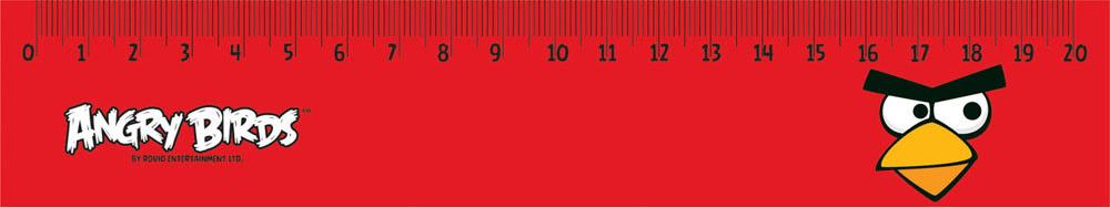 Двухсторонняя линейка Centrum Angry Birds обязательно придется по вкусу любому поклоннику знаменитой игры Angry Birds. Она выполнена из прочного пластика красного цвета и оформлена изображением красной сердитой птички. Линейка имеет сантиметровую шкалу до 20 см. Цифры нанесены крупным шрифтом и не вызывают затруднений при чтении.     В комплект входят 10 линеек.Линейка - это незаменимый атрибут, необходимый каждому школьнику или студенту, упрощающий измерение и обеспечивающий ровность проводимых линий. А с линейкой Angry birds учиться будет интересно и весело!