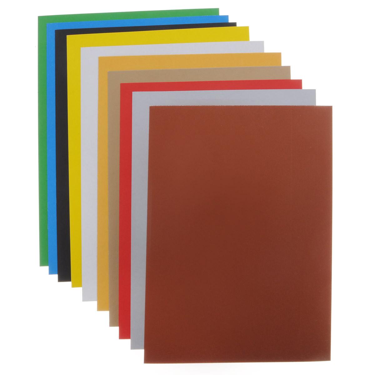 Набор цветного мелованного картона Proff  Racing позволит создавать всевозможные аппликации и поделки. Набор состоит из десяти листов формата А4 одностороннего цветного картона десяти  цветов: коричневого, красного,оранжевого, белого, желтого, черного, синего, зеленого, золотого и серебряного . Создание поделок из цветного картона позволяет ребенку развивать творческие способности, кроме того, это увлекательный досуг. Набор упакован в картонную папку с изображением забавных гоночных машин.