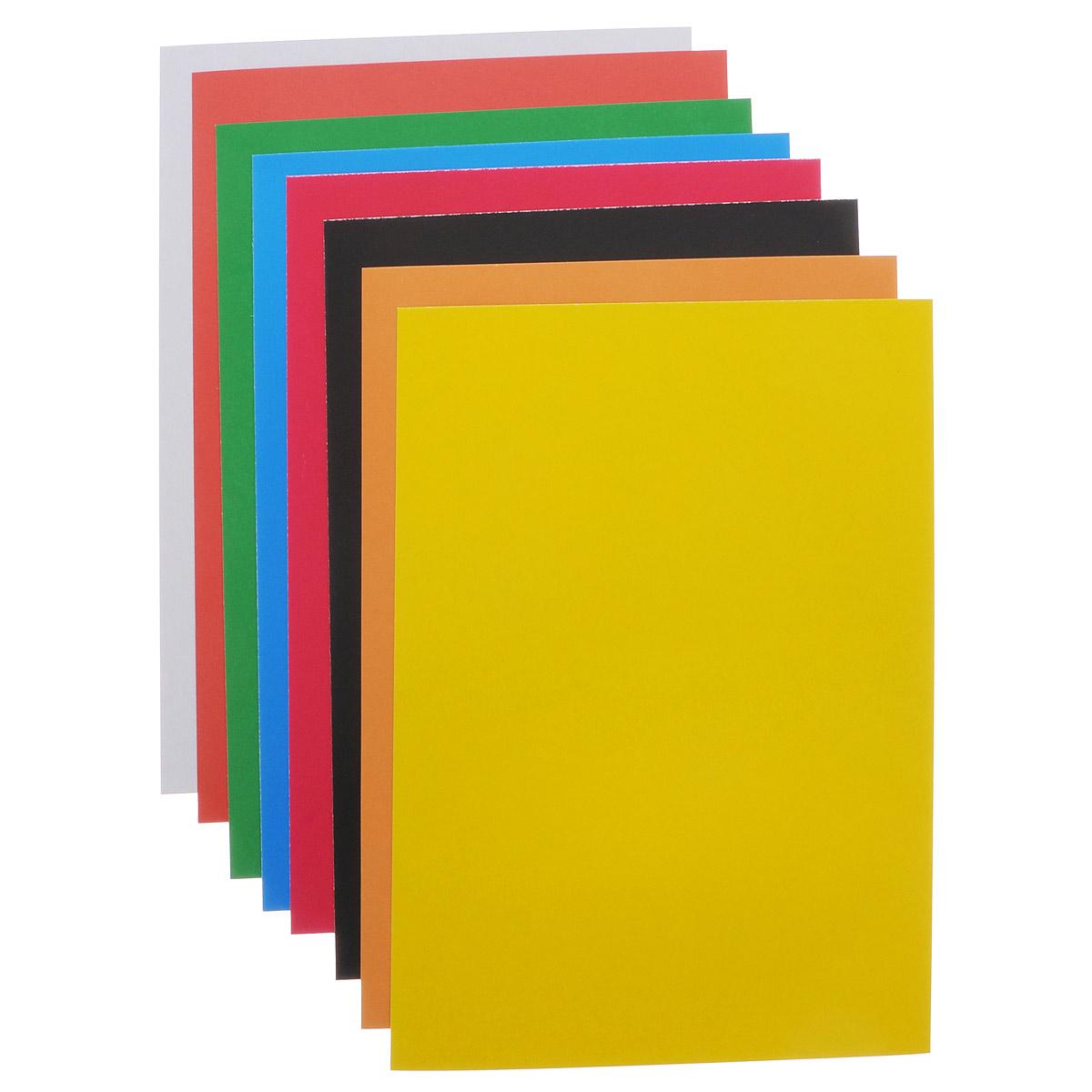 Набор цветного картона Proff The Simpsons прекрасно выполненный, замечательный набор для детского творчестваНабор позволит создавать всевозможные аппликации и поделки. Набор состоит из картона желтого, черного, зеленого, белого, красного, синего, оранжевого и малинового цветов. Создание поделок из цветного картона позволяет ребенку развивать творческие способности, кроме того, это увлекательный досуг.Творите вместе с Proff!