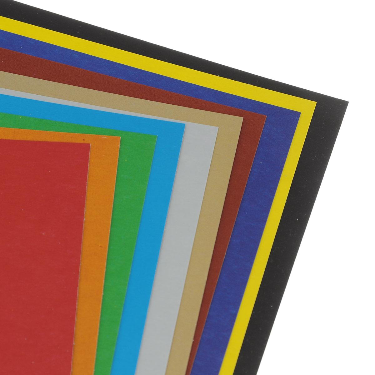 Картон цветной Hatber: Карусель позволит создавать всевозможные аппликации и поделки. Набор включает 10 листов одностороннего цветного картона формата А4. Цвета: красный, оранжевый, зеленый, голубой, серебренный, золотистый, коричневый, синий, желтый, черный. br> Создание поделок из цветного картона позволяет ребенку развивать творческие способности, кроме того, это увлекательный досуг.