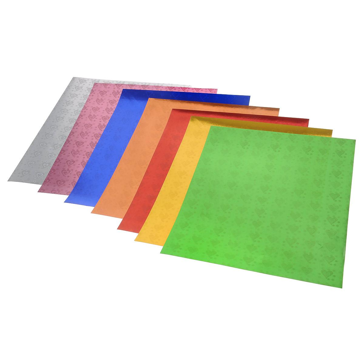 Набор цветной фольги Бриз позволит вам создавать всевозможные аппликации и поделки. Набор состоит из семи листов цветной голографической фольги: желтого, бордового, оранжевого, голубого, синего, красного и зеленого цветов. Изделия из переливающейся фольги с изображением сердечек будут отличаться яркостью и оригинальностью! Создание поделок из цветной фольги - увлекательное времяпрепровождение, которое позволяет ребенку развивать творческие способности.