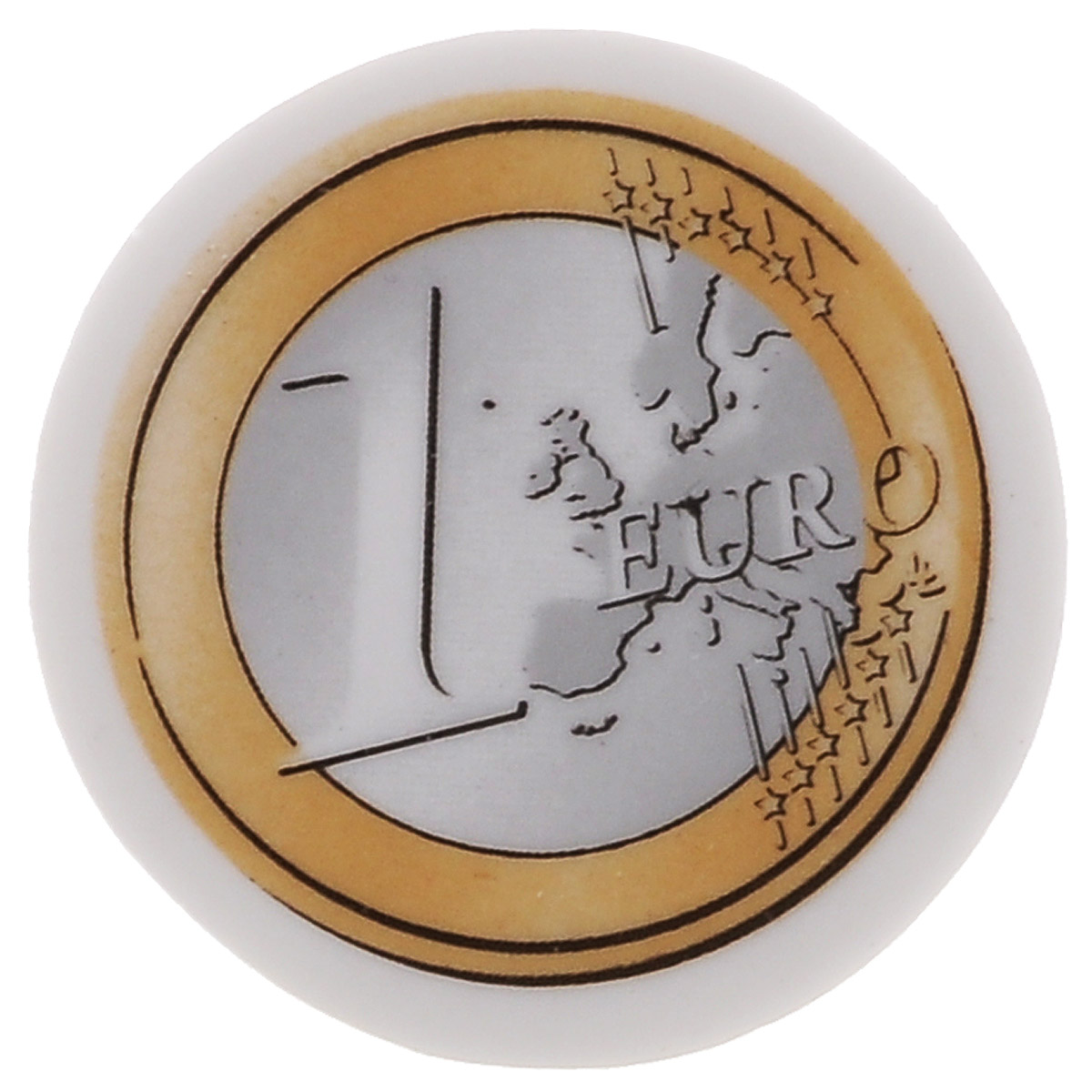 Ластик Brunnen Евро станет незаменимым аксессуаром на рабочем столе не только школьника или студента, но и офисного работника. Стерка имеет круглую форму с рисунком монеты 1 евро. Ластик обеспечивает высокое качество коррекции и не повреждает поверхность бумаги. Не рекомендуется детям до 3-х лет.