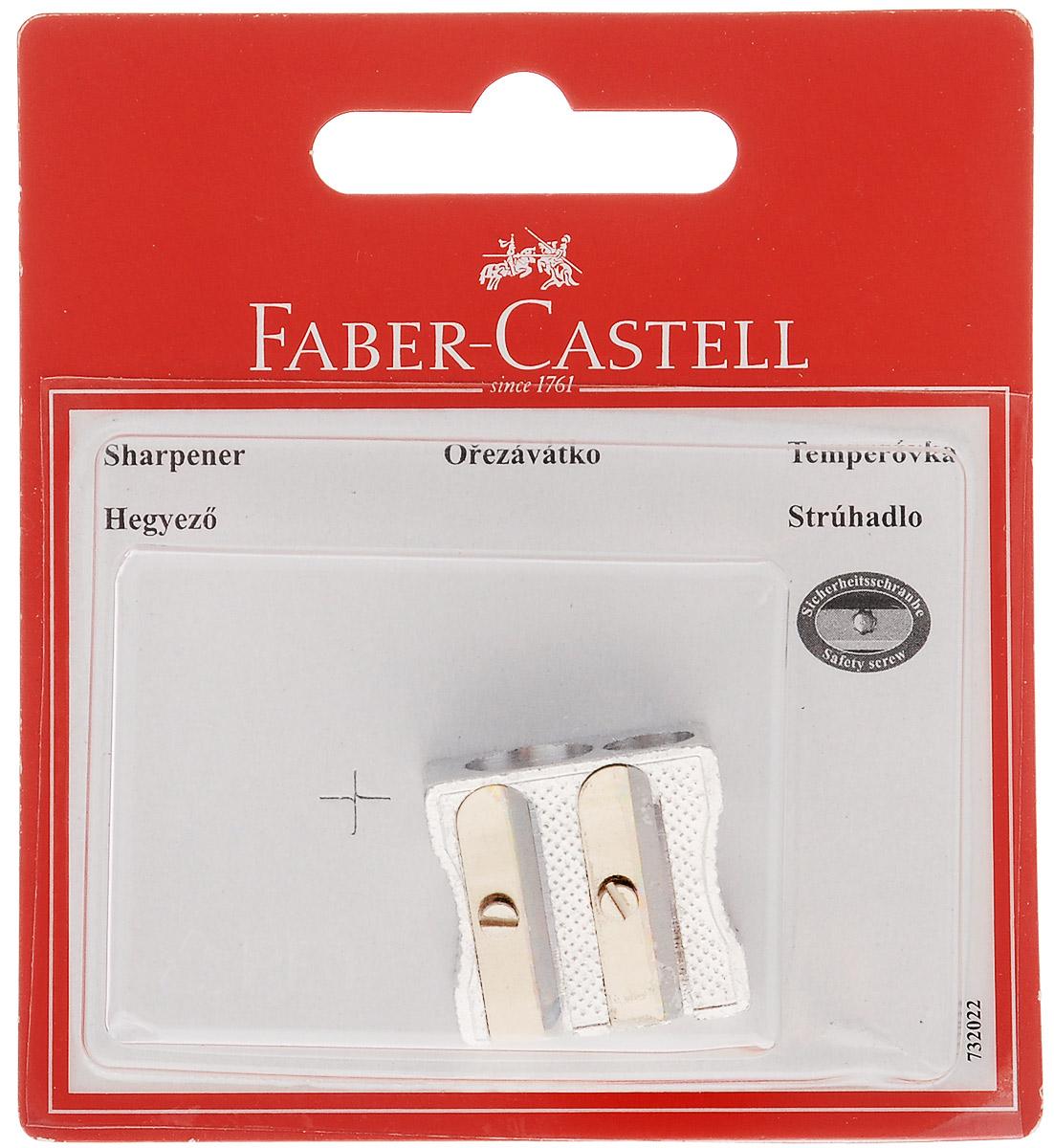 Металлическая точилка Faber-Castell предназначена для затачивания классических, трехгранных графитовых, простых и цветных карандашей. В точилке имеются два отверстия для карандашей разного диаметра. Острые стальные лезвия обеспечивают высококачественную и точную заточку деревянных карандашей.