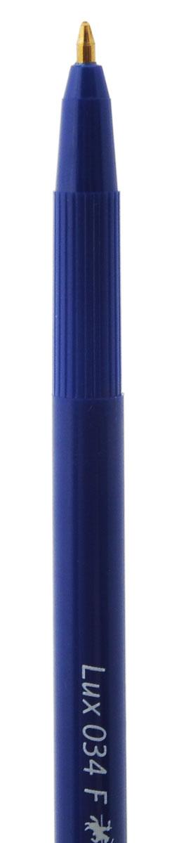 Шариковая ручка Faber-Castell 034-Fстанет незаменимым атрибутом учебы или работы. Корпус ручки и колпачок выполнены из пластика синего цвета. Высококачественные синие чернила позволяют добиться идеальной плавности письма.Ручка оснащена клип-зажимом для удобной фиксации на бумаге или одежде.В комплект входят 10 ручек.