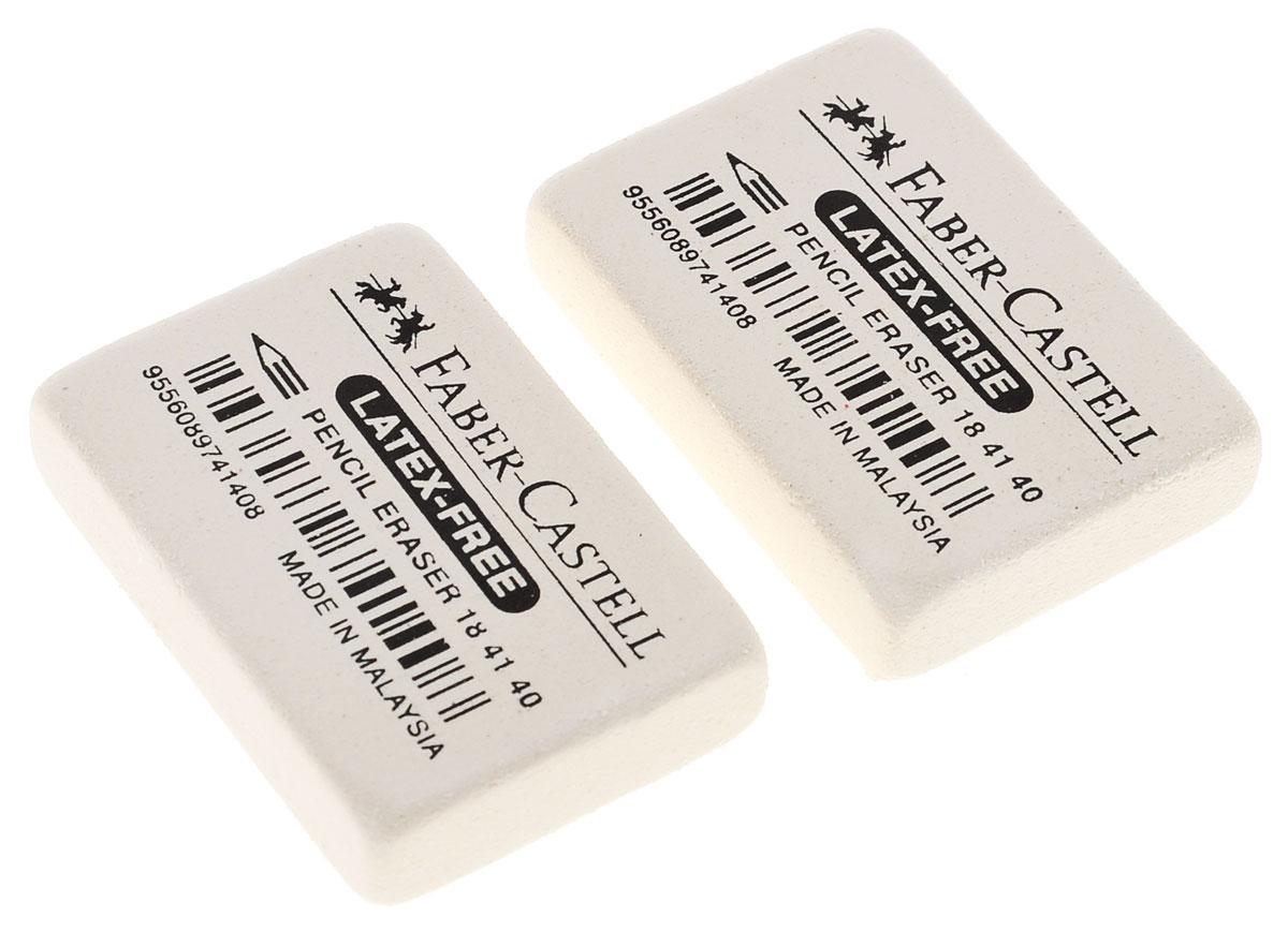Ластик Faber-Castell из каучука, не содержит ПВХ, пригоден для графитных простых и цветных карандашей. Размеры ластика: 3,5 см х 2,5 см х 0,8 см. В комплекте 2 ластика.